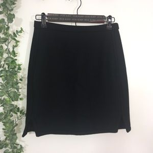 J. Crew 100 % wool double notched mini skirt